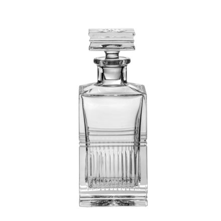 Art Deco Crystal Square Spirit Decanter - 240mm (Gift Boxed) | Royal Scot Crystal