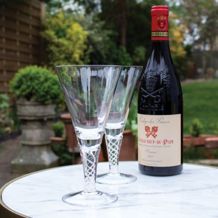 SALE - (SECONDS QUALITY) - Jacobean Air Twist - 2 Large Wine Glasses 192mm (ON LINE OFFER) | Royal Scot Crystal