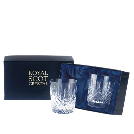 Aviemore - 2 Large Crystal Tumblers 95 mm (Midnight Blue Presentation Boxed) | Royal Scot Crystal