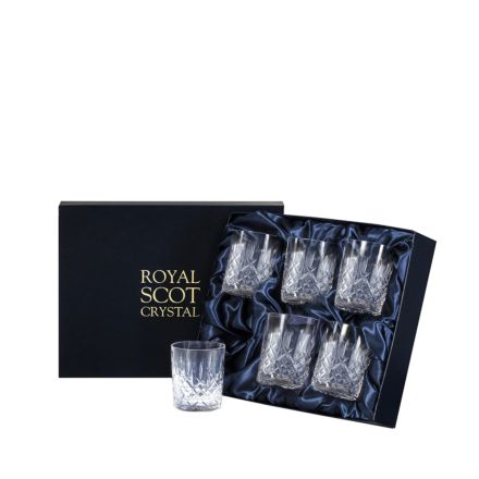 Aviemore - 6 Crystal Small Whisky Tumblers 87mm (Midnight Blue Presentation Boxed) | Royal Scot Crystal