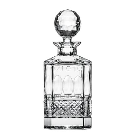 Belgravia - 1 Square Spirit Decanter (Clear) - 245mm (BROWN CARD BOX) (SECONDS QUALITY) | Royal Scot Crystal
