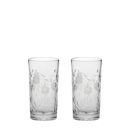 Catherine - 2 Tall Crystal Tumblers 150mm (Gift Boxed) | Royal Scot Crystal