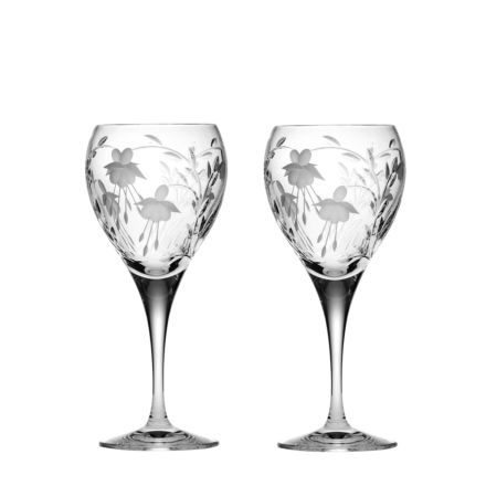 Catherine - 2 Crystal Wine Glasses 195mm (Gift Boxed) | Royal Scot Crystal