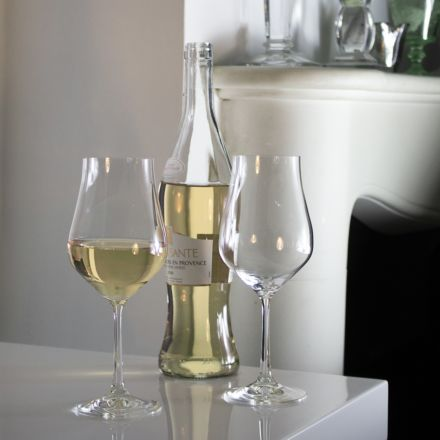 Classic Tulip Collection - Pair of White Wine Glasses 217mm, 350ml (Gift Boxed) | Royal Scot Crystal