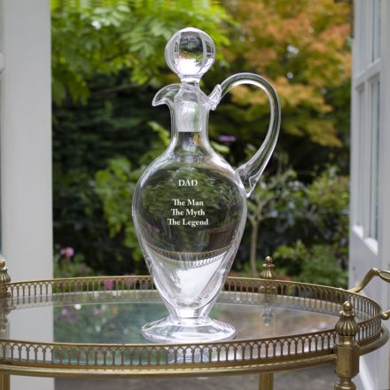 Personalised - Classic Collection - Crystal Handled Wine Decanter - 310mm (Gift Boxed) | Royal Scot Crystal