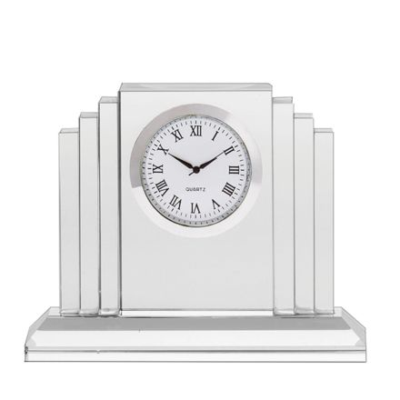 Clock - Art Deco Crystal Clock (Presentation Boxed)