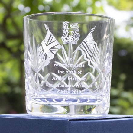 SALE - Royal Baby Kintyre Whisky Tumbler (Gift boxed) - Archie Harrison Mountbatten-Windsor