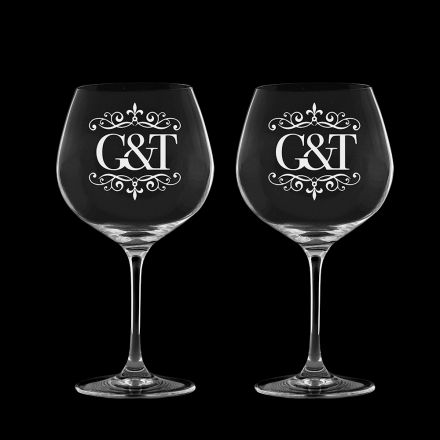 Gin and Tonic (G&T) - 2 Copa Glasses 210mm (Gift Boxed) | Royal Scot Crystal