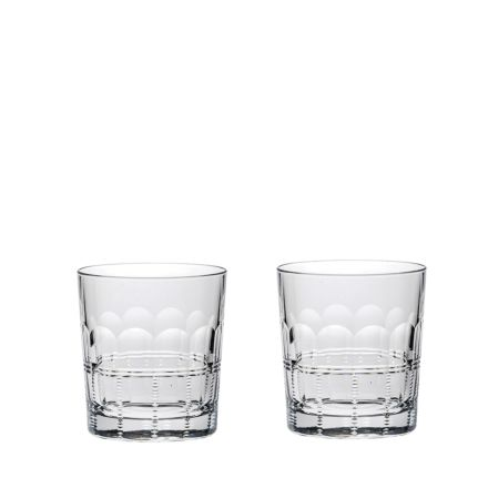 Coronet - 2 Large Tumblers 95mm (Presentation Boxed) | Royal Scot Crystal