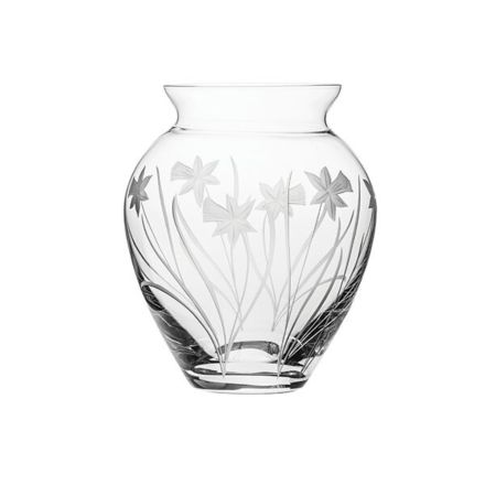 Daffodils Extra Large Posy Vase 190mm (Gift Boxed) | Royal Scot Crystal