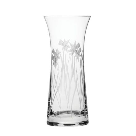 SALE - Daffodils Lily Vase 230mm (SECONDS QUALITY)(Gift Boxed) | Royal Scot Crystal