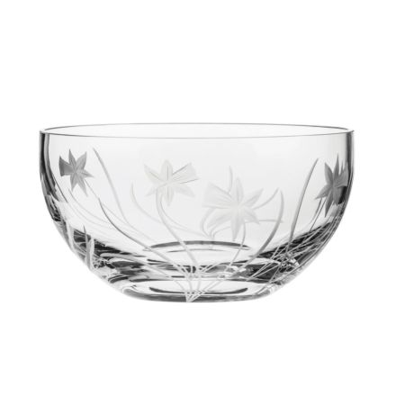 Daffodils Fruit / Salad Bowl 190mm (Gift Boxed) | Royal Scot Crystal