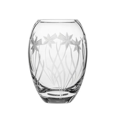 Daffodils Small Barrel Vase 145mm (Gift Boxed) | Royal Scot Crystal