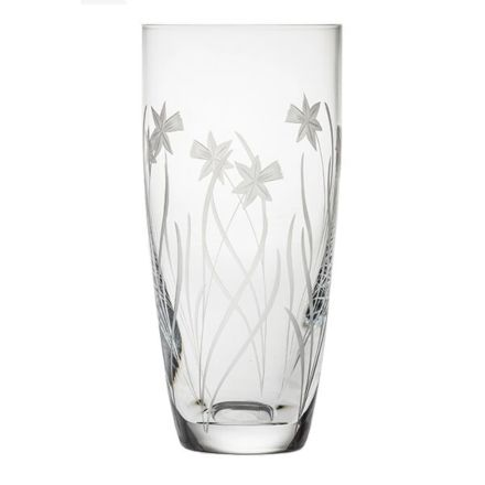Daffodils Tall Vase 250mm (Gift Boxed) | Royal Scot Crystal
