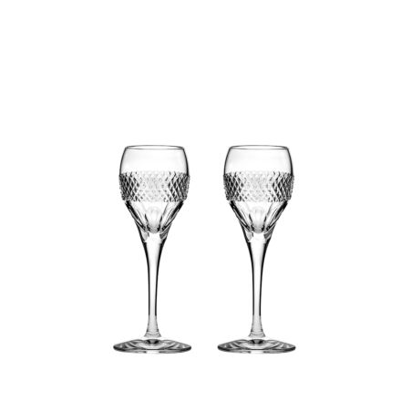 Diamonds - 2 Port / Sherry Glasses 165mm (Gift Boxed) | Royal Scot Crystal