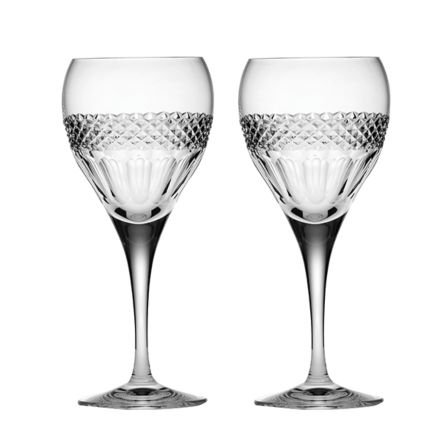 Diamonds - 2 Crystal Wine Glasses (Gift Boxed)