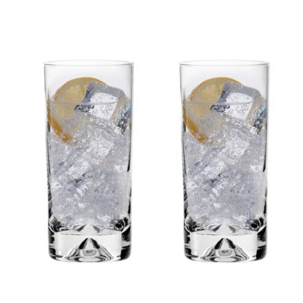 2 Highball Tumblers (Dimple based) (Gift Boxed)