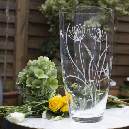 Dragonfly Extra Tall vase (Giftware) - 300mm (Gift Boxed) | Royal Scot Crystal