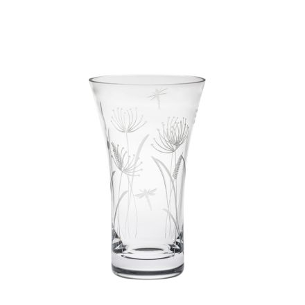 Dragonfly Flared Vase (Giftware) - 200mm (Gift Boxed) | Royal Scot Crystal
