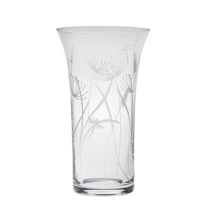 SALE - Dragonfly Large Flared Vase (SECONDS QUALITY) - 255mm (Industrial Box) | Royal Scot Crystal