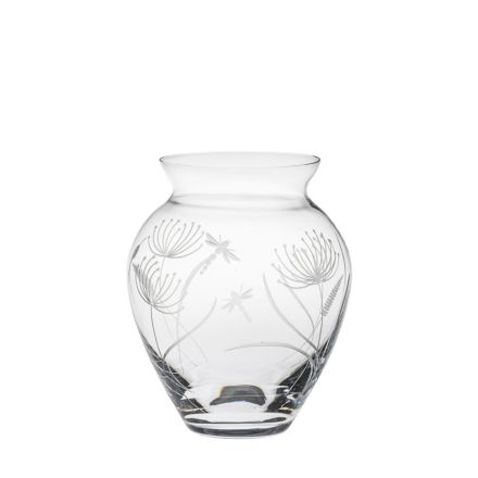 Dragonfly Large Posy Vase (Giftware) - 180mm (Gift Boxed) | Royal Scot Crystal