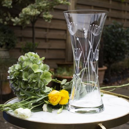 Dragonfly Large Waisted Vase (Giftware) - 300mm (Gift Boxed) | Royal Scot Crystal