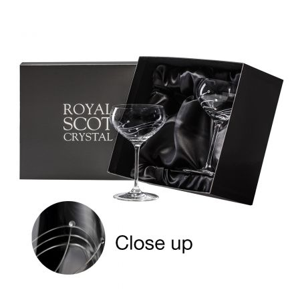 Diamante (Swarovski crystals) - 2 Saucer Champagne Cocktail glasses (Presentation Boxed)