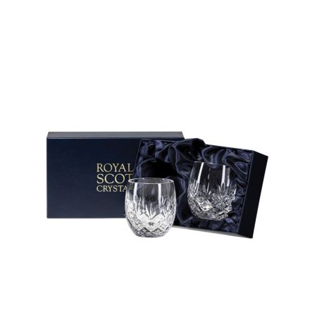 Edinburgh - 2 Barrel Tumblers 85mm (Presentation Boxed) | Royal Scot Crystal
