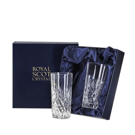Edinburgh - 2 Tall Tumblers 150mm (Presentation Boxed) | Royal Scot Crystal