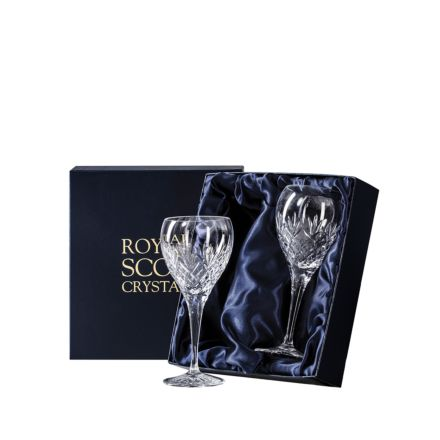 Edinburgh - 2 Crystal Wine 195mm (Presentation Boxed) | Royal Scot Crystal - New Shape!