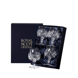 Edinburgh - 4 Crystal Brandy Glasses 132mm (Presentation Boxed) | Royal Scot Crystal - New Shape