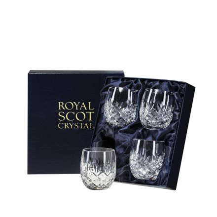 Edinburgh - 4 Barrel Tumblers 85mm (Presentation Boxed) | Royal Scot Crystal