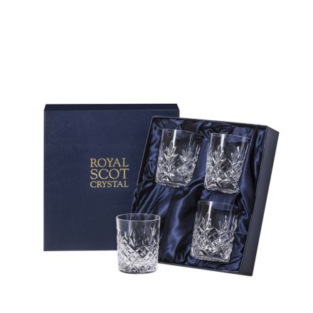 Edinburgh - 4 Crystal Small Whisky Tumblers 87mm (Presentation Boxed) | Royal Scot Crystal