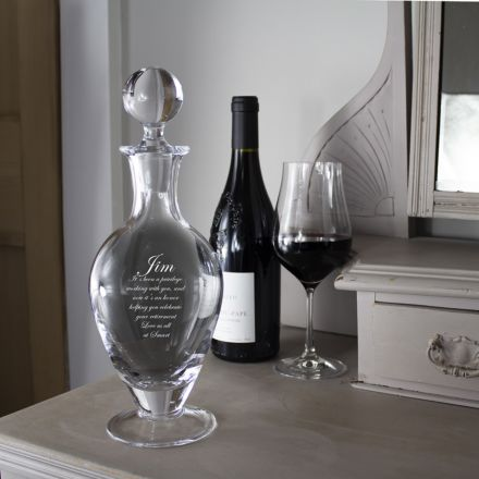 Personalised - Crystal Footed Wine/Port Decanter - 310mm (Gift Boxed) | Royal Scot Crystal