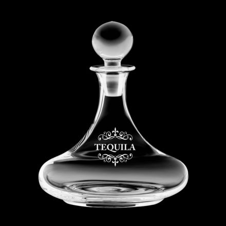 Classic Collection - Ships Decanter ENGRAVED TEQUILA, 225mm (Gift Boxed) | Royal Scot Crystal