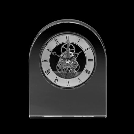 Clock - Contemporary Dome Crystal Clock 150mm (Presentation Boxed) | Royal Scot Crystal