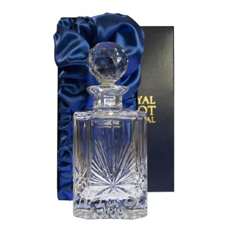 Edinburgh Star - Square Spirit Decanter 245mm (Presentation Boxed) | Royal Scot Crystal
