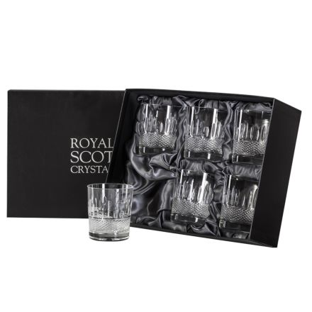 Eternity - 6 Crystal Large Tumblers  - 95mm (Presentation Boxed) | Royal Scot Crystal