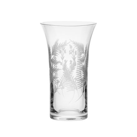 Woodland Fern Flared Vase - 200mm (Gift Boxed) | Royal Scot Crystal