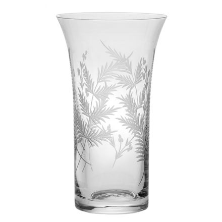 Woodland Fern Large Flared Vase  - 255mm (Gift Boxed) | Royal Scot Crystal