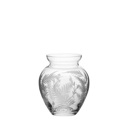 Woodland Fern Small Posy Vase - 1200mm (Gift Boxed) | Royal Scot Crystal