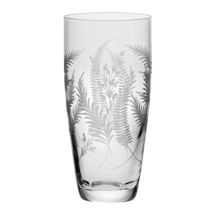 Woodland Fern Tall Vase - 250mm (Gift Boxed) | Royal Scot Crystal