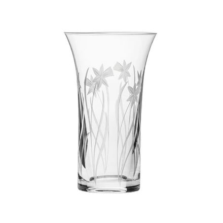 Daffodils Flared Vase 200mm (Gift Boxed) | Royal Scot Crystal