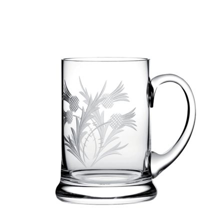 Flower of Scotland (thistle) Tankard 140mm (Gift Boxed) | Royal Scot Crystal