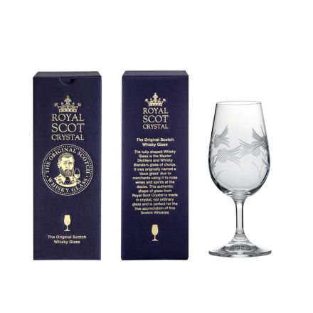 Flower of Scotland (thistle) Whisky Tasting Glass 161mm (Gift Boxed) | Royal Scot Crystal