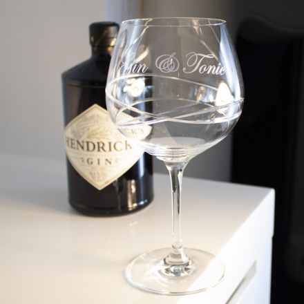 Skye - Single Engraved Gin and Tonic (G&T) Copa Glass 210mm (Gift Boxed)  | Royal Scot Crystal