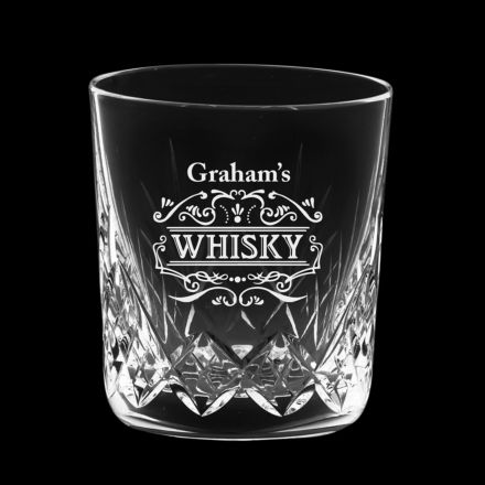 Personalised - 1 Highland Large Crystal Tumbler - 95mm Whisky personalised (Gift Boxed) | Royal Scot Crystal