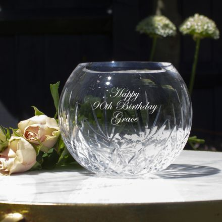 Personalised - Highland Small Posy Vase - 115 mm (width)  (Engraved) (Gift Boxed) | Royal Scot Crystal