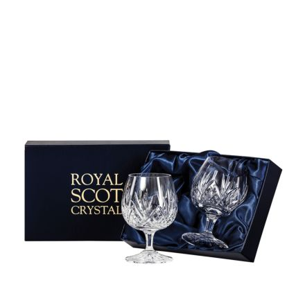 Highland - 2  Crystal Brandy Glasses 132mm (Presentation Boxed) | Royal Scot Crystal