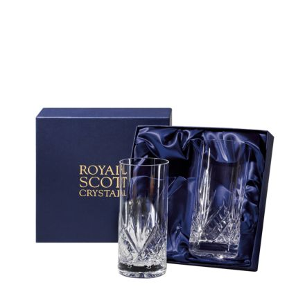 Highland - 2 Tall Crystal Tumblers (Presentation Boxed) | Royal Scot Crystal